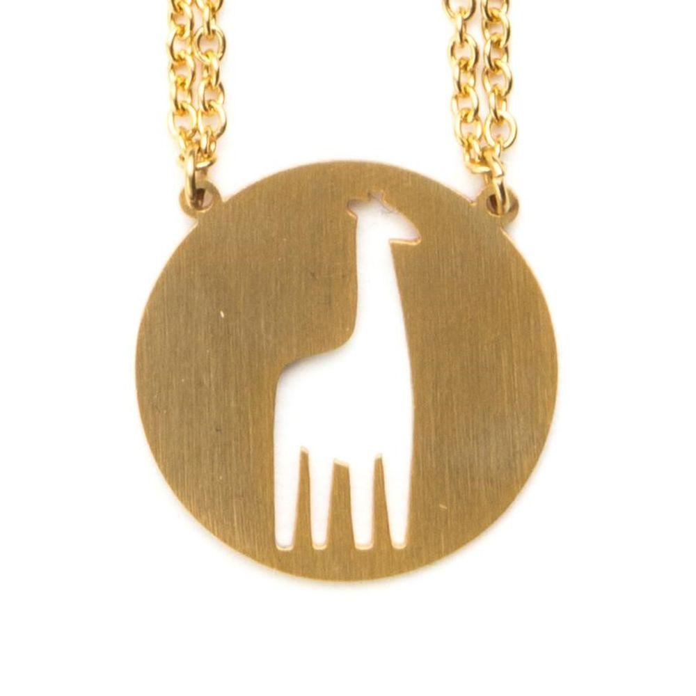 Jaeci Giraffe Necklace Gold