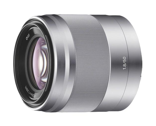 Sony E 50mm f/1.8 OSS Lens Silver