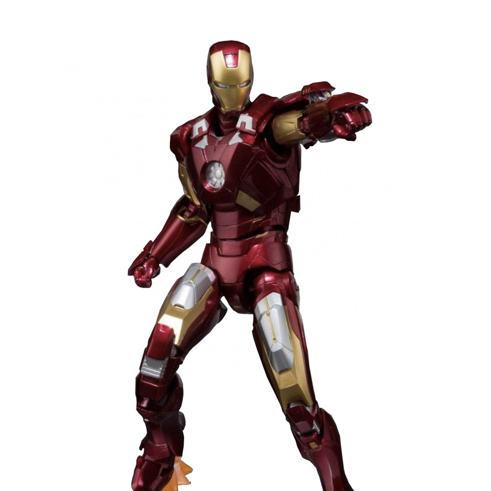 Bandai S.H.Figuarts Ironman Mk-7 And Hall Of Armor Set 1/12 Scale