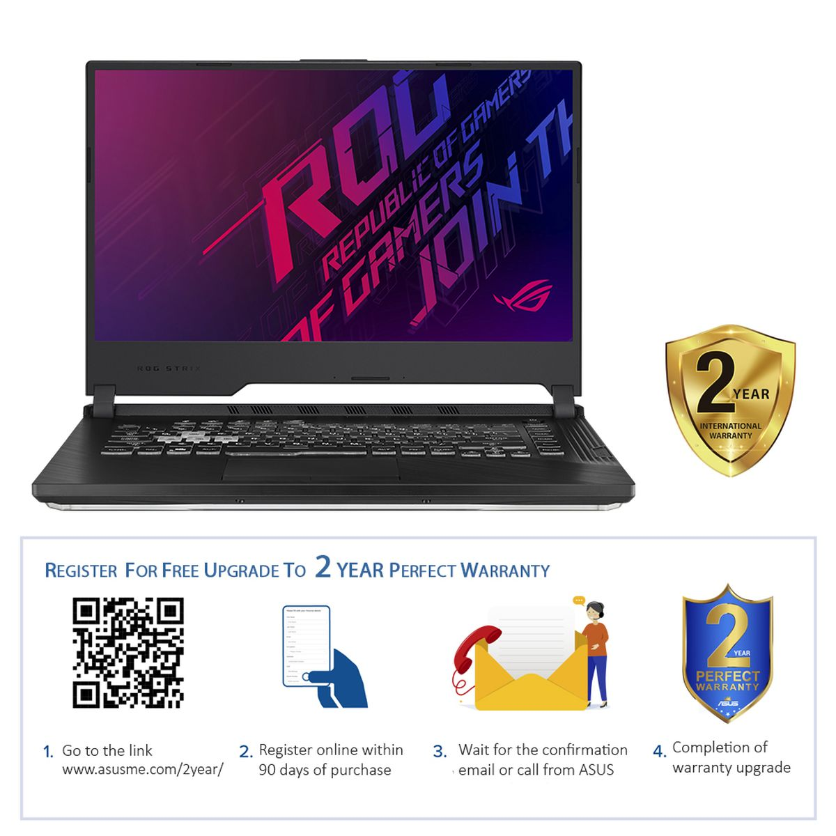 ASUS ROG STRIX G G531GU-AL237T Gaming Laptop G i7-9750H/16GB/1TB HDD+256GB SSD/NVIDIA GeForce GTX 1660Ti 6GB/15.6 Inch FHD/120Hz/Windows 1