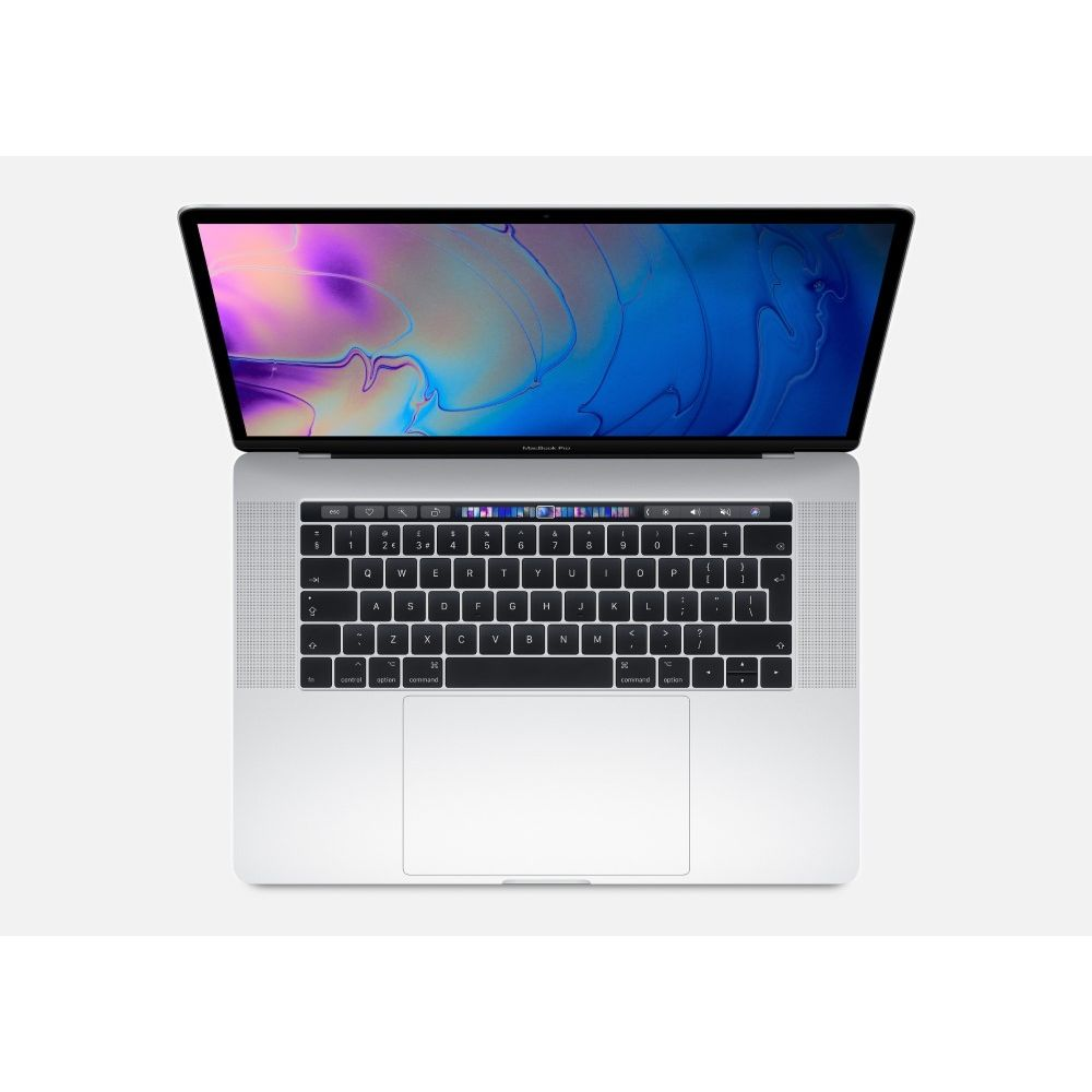 Apple MacBook Pro 15-inch with Touch Bar Silver 2.3GHz 8-Core 9th-Generation Intel-Core i9/512GB Arabic/English