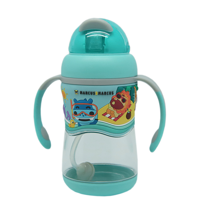Marcus N Marcus Tritan Straw Straw Bottle Blue