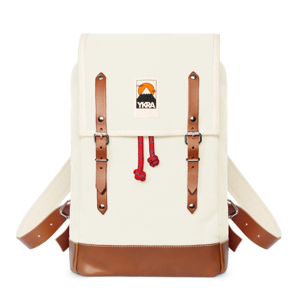 Ykra Matra Mini Leather Strap White Backpack