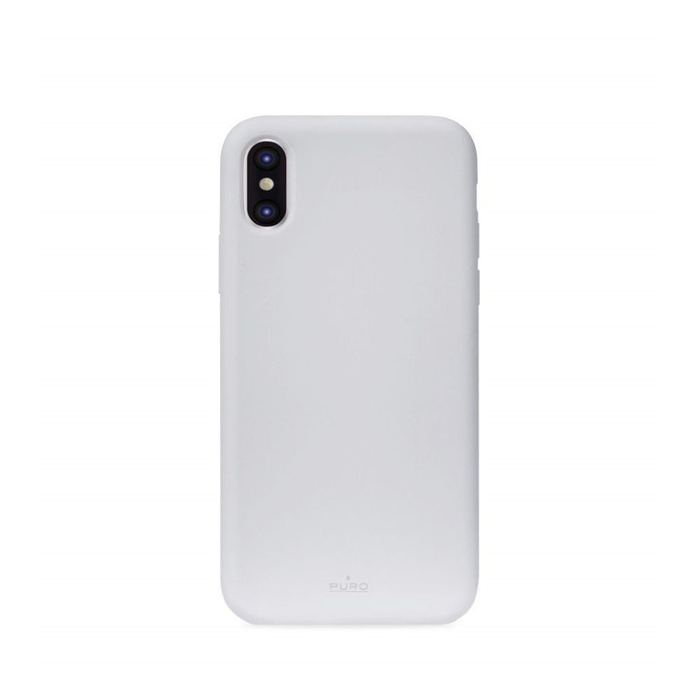 Puro Icon Silicon Case Light Blue for iPhone XS Max