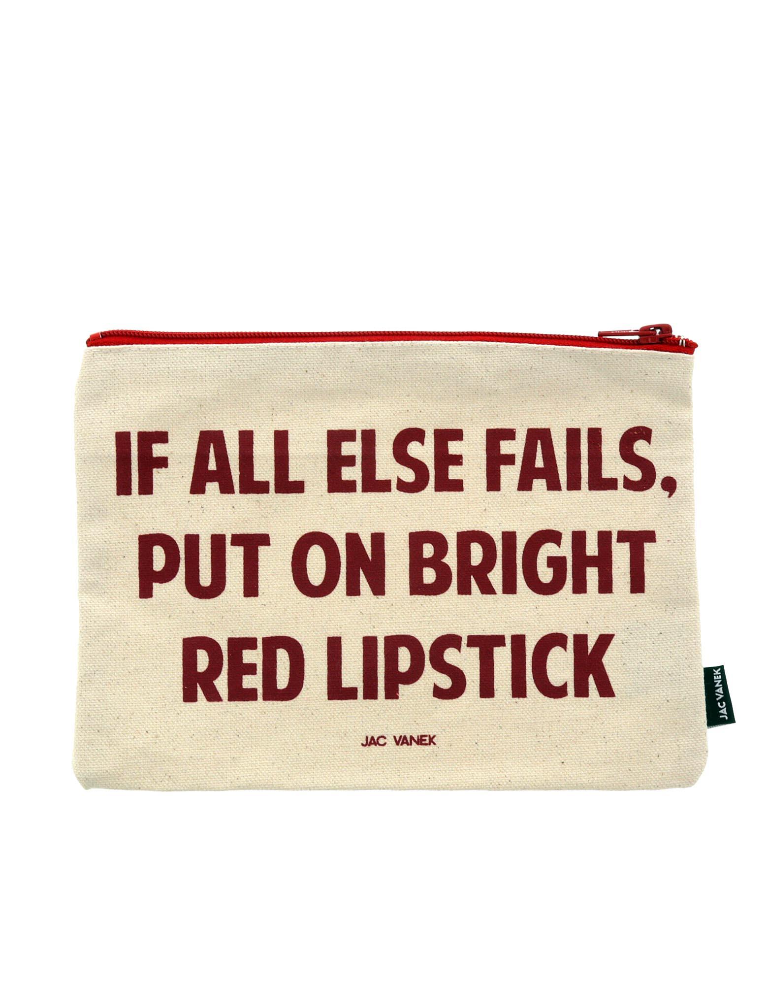 Lipstick Zip Pouch Canvass