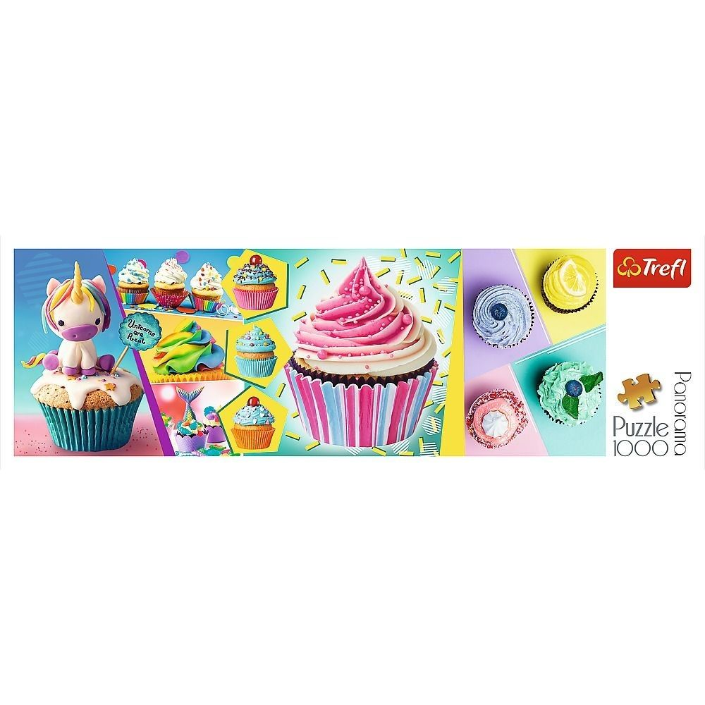 Trefl Colorful Cupcakes Panorama 1000 Piece Jigsaw Puzzle