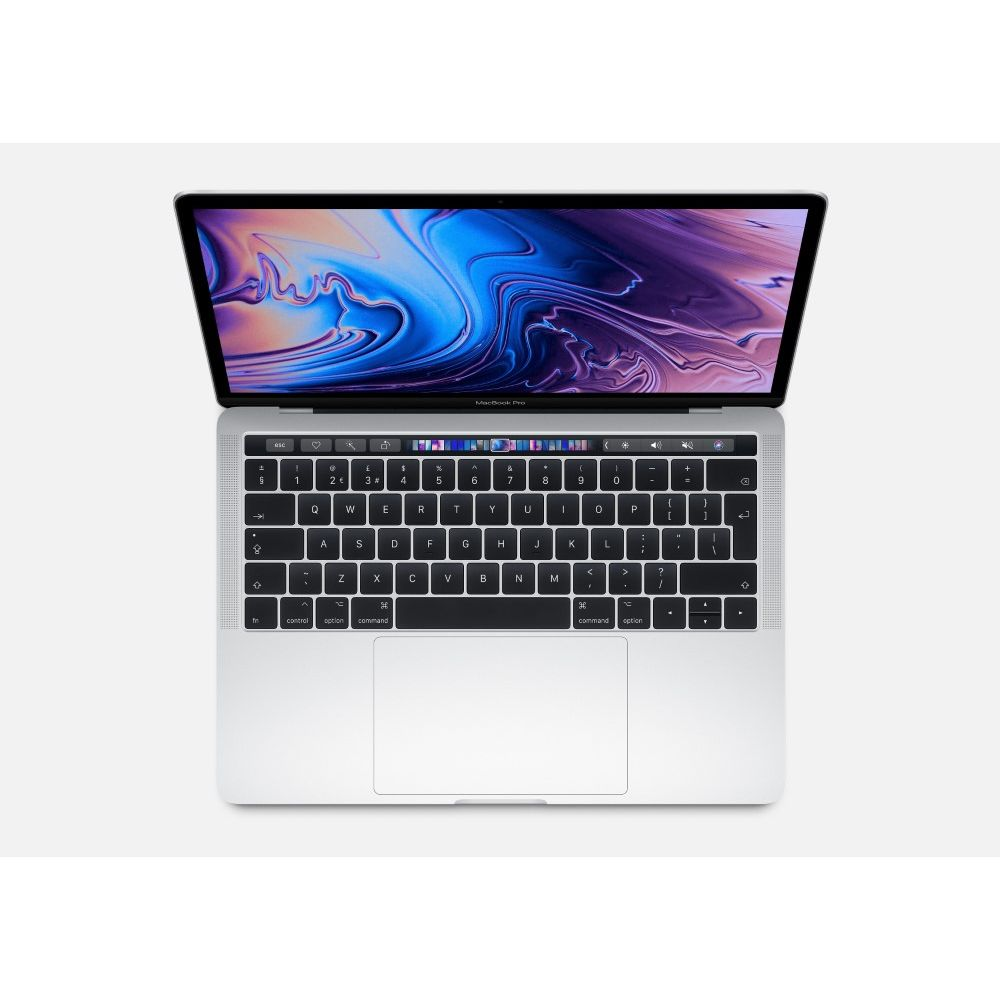 Apple MacBook Pro 13-inch with Touch Bar Silver 2.4GHz Quad-Core 8th-Generation Intel-Core i5/256GB
