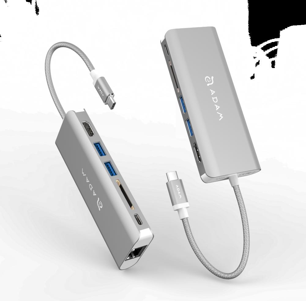 Adam Elements CASA Grey USB 3.1 USB Type-C 6 Port Hub