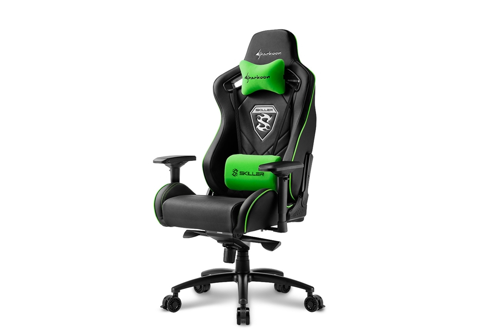 Sharkoon SKILLER SGS4 Black/Green Gaming Chair
