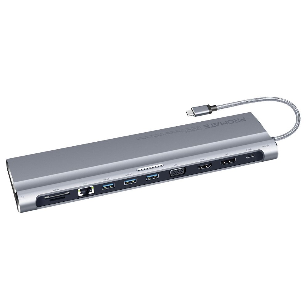 Promate Baselink-C Silver All-in-1 USB-C Hub
