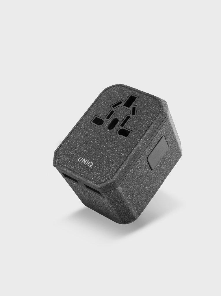 Uniq Voyage PD World Adapter PD33 Charcoal Grey