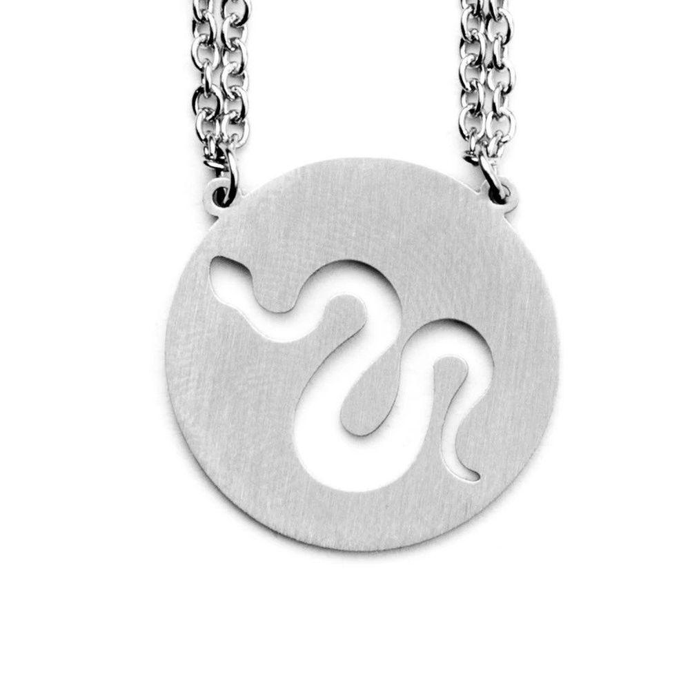 Jaeci Snake Necklace Silver