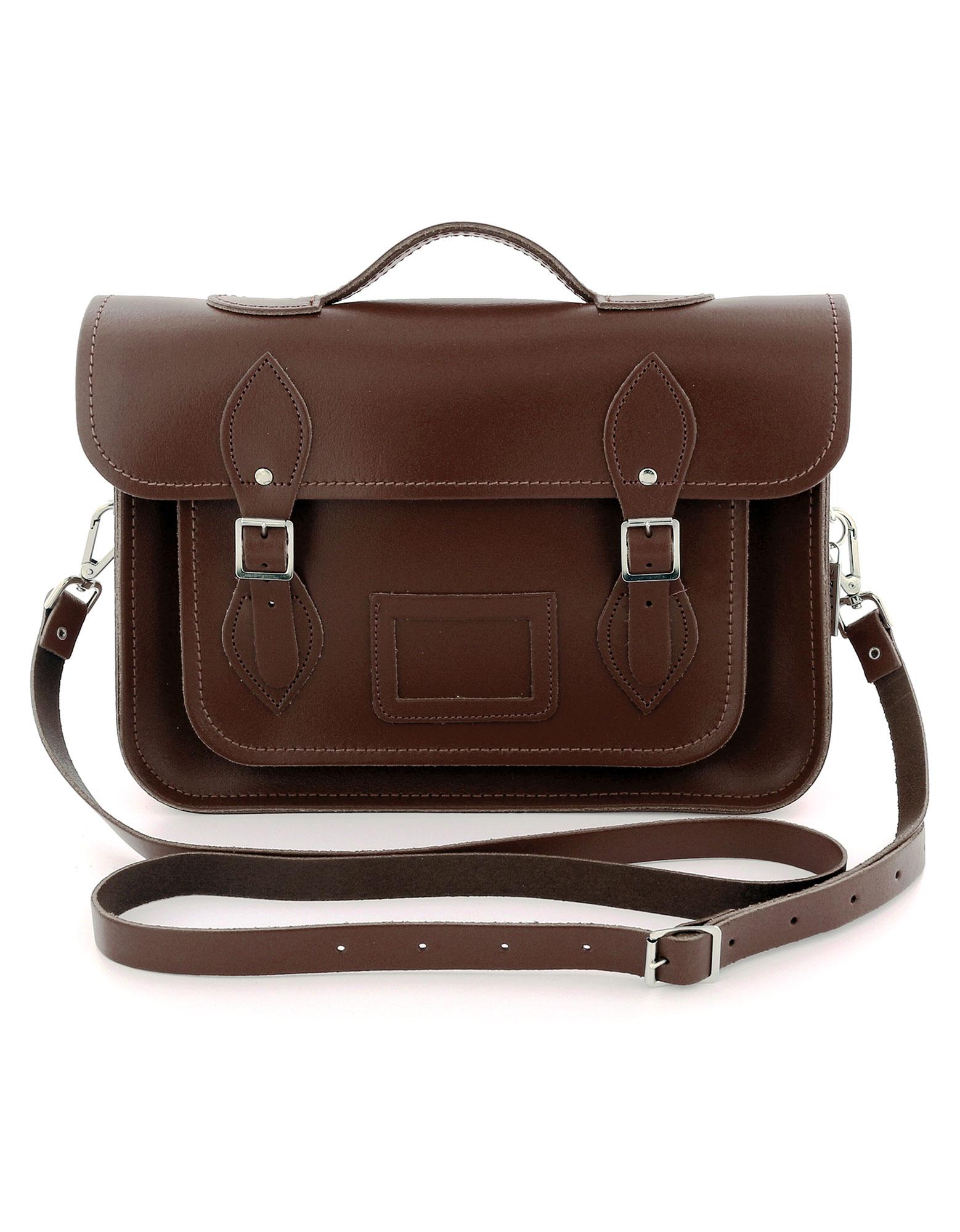 Zatchel Classic Chestnut/Leather Satchel 13 Inch