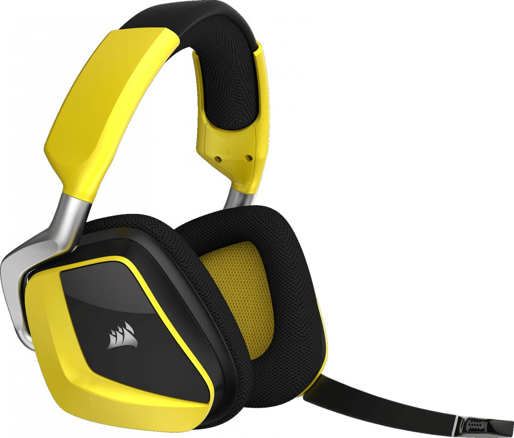 Corsair Void Pro RGB Wireless SE Premium Gaming Headset with Dolby Headphone 7.1 Yellow