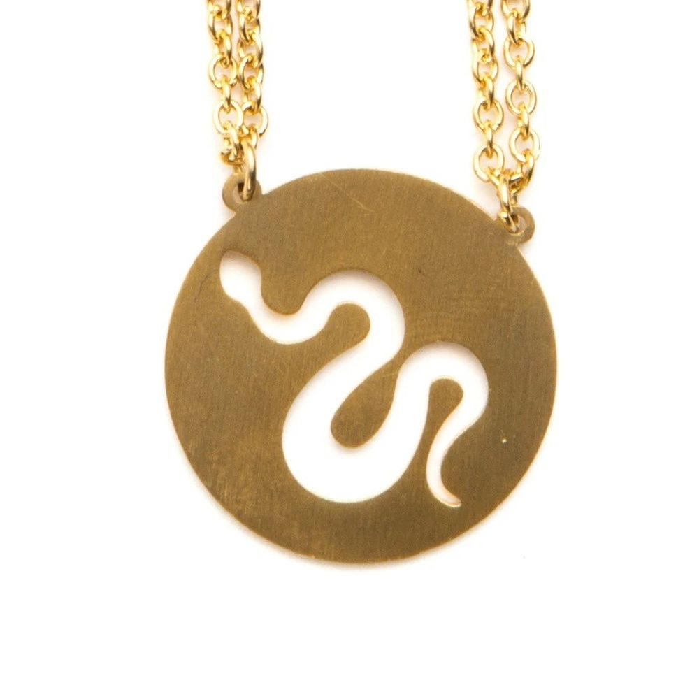 Jaeci Snake Necklace Gold
