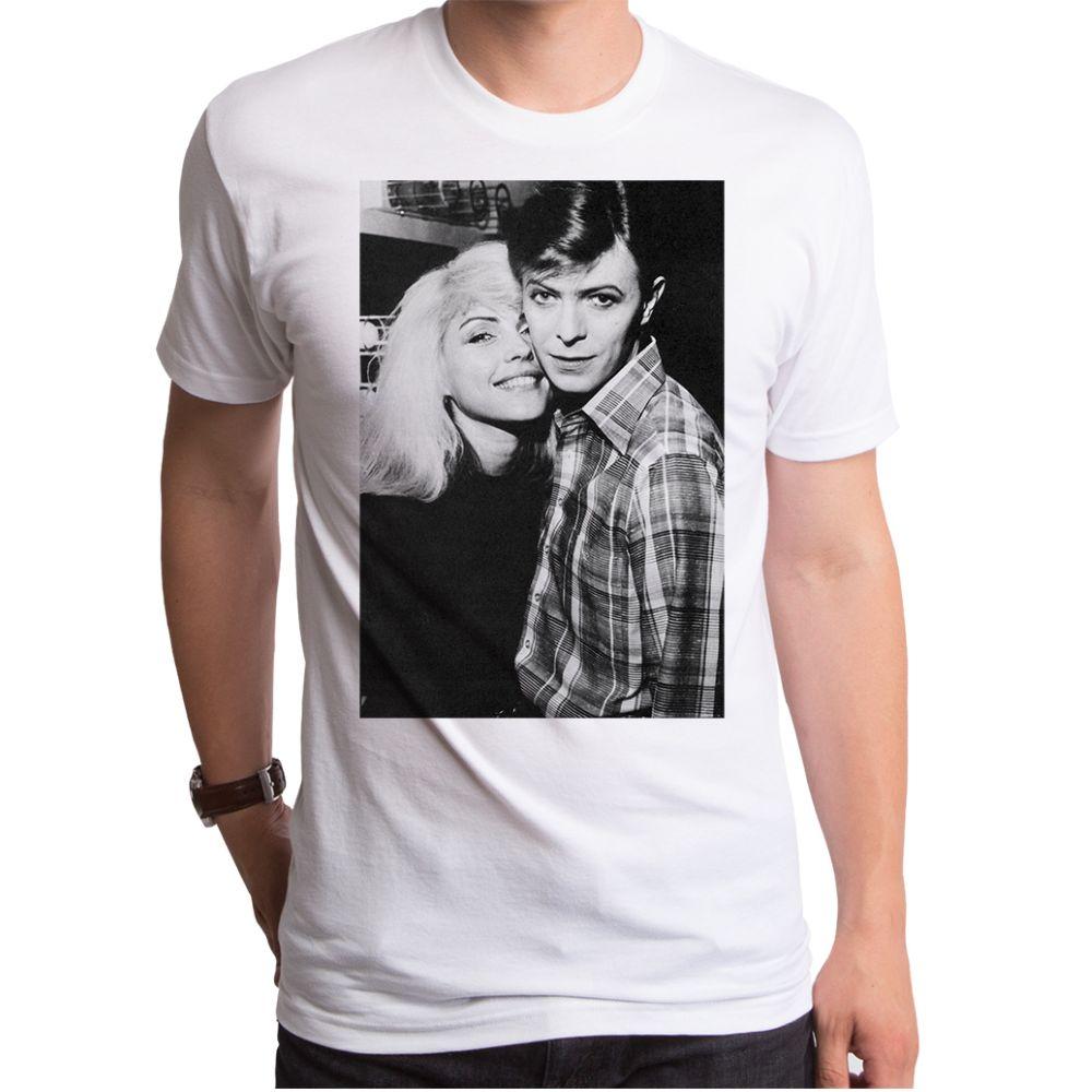 David Bowie David And Debbie Men'S T-Shirt White L