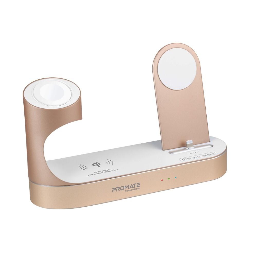 Promate Powerstate Mfi Wireless Charging Station Gold