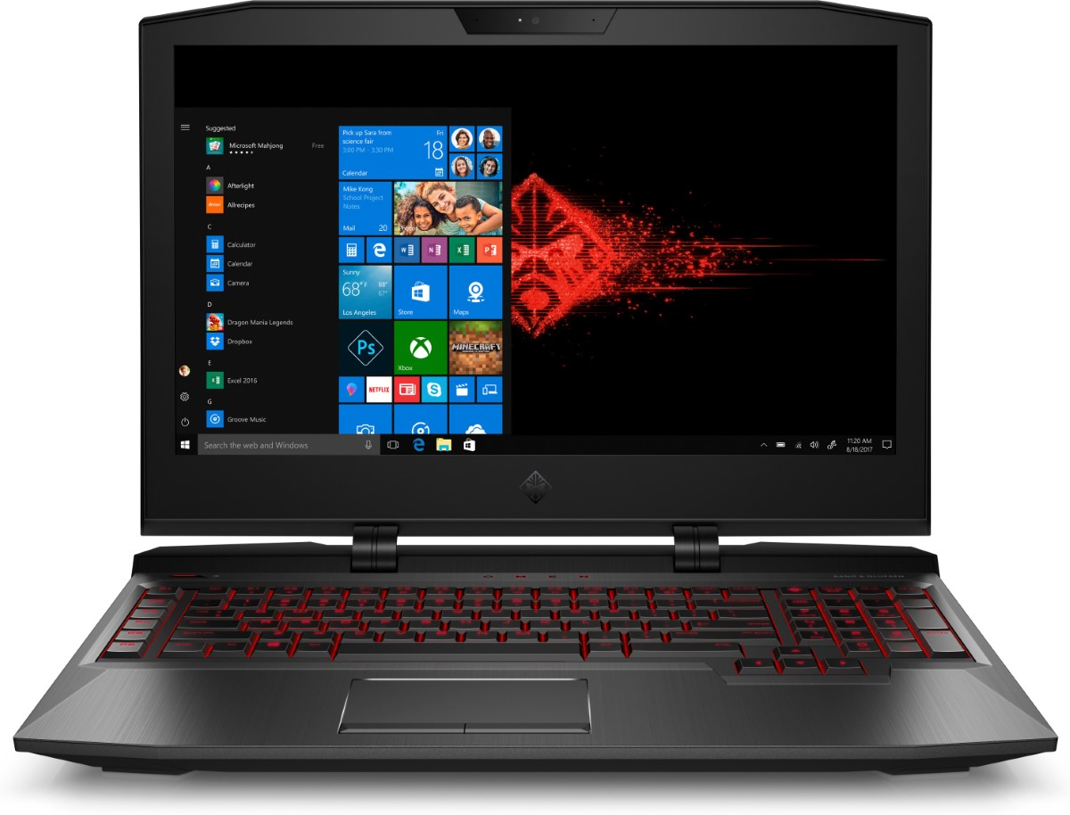 HP OMEN X 2.9GHz i7-7820HK 32GB/256GB SSD +1TB 17.3 Inch Black Notebook