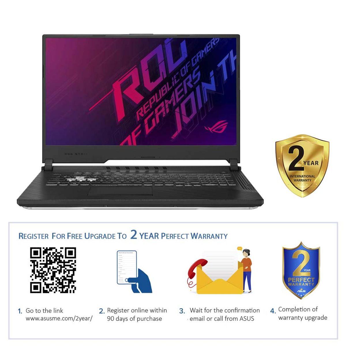 """ASUS ROG Strix G G731GT-AU058T i7-9750H/16GB/1TB HDD+256GB SSD/NVIDIA GeForce GTX 1650 4GB/17.3"""" FHD/60Hz/Windows 10 Home/Black"""