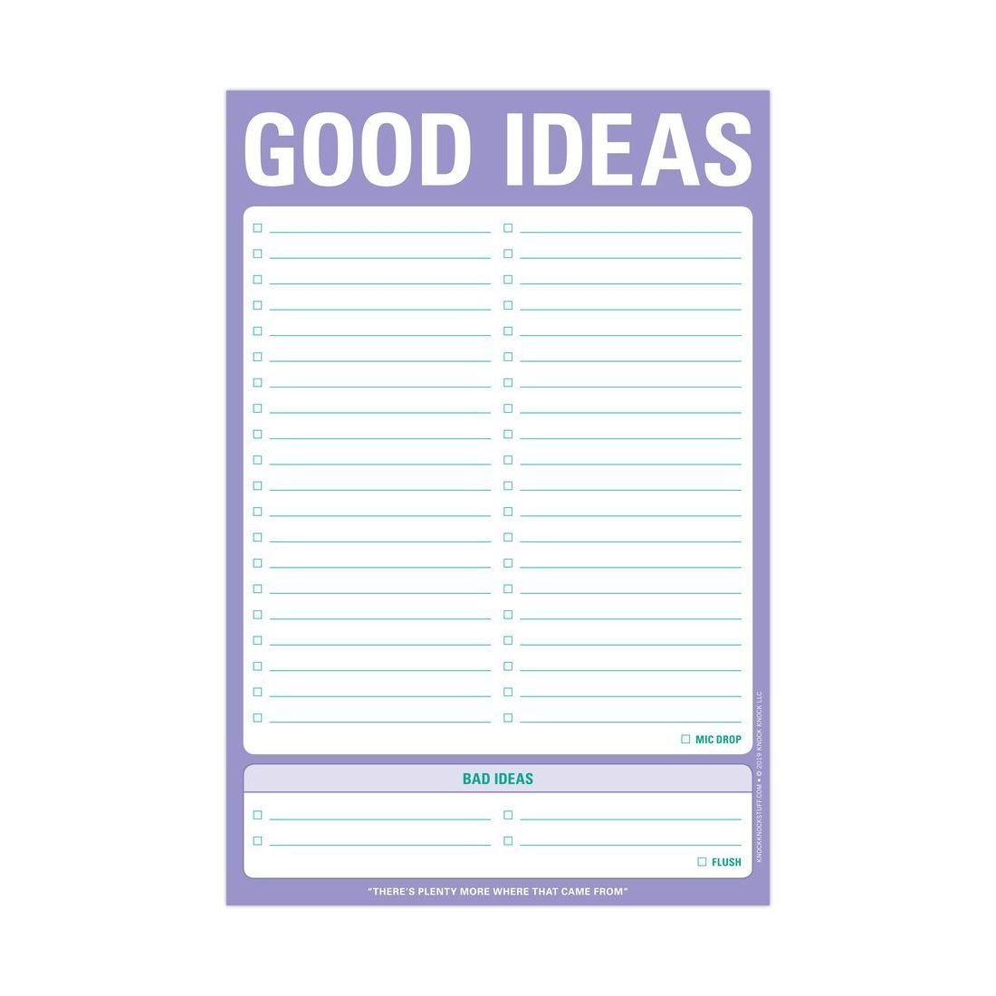 Knock Knock Good Idea Bad Ideas Classic Pad