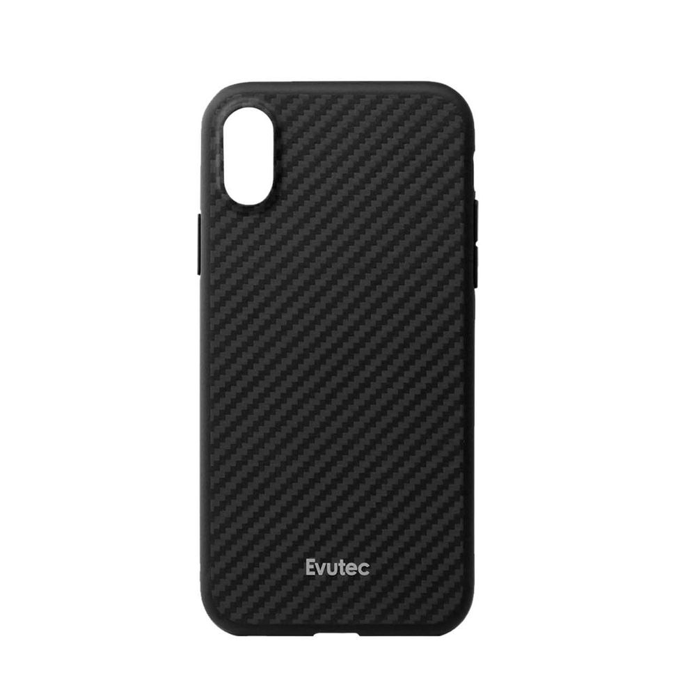 Evutec Aer Karbon with Afix Case Black for iPhone XR