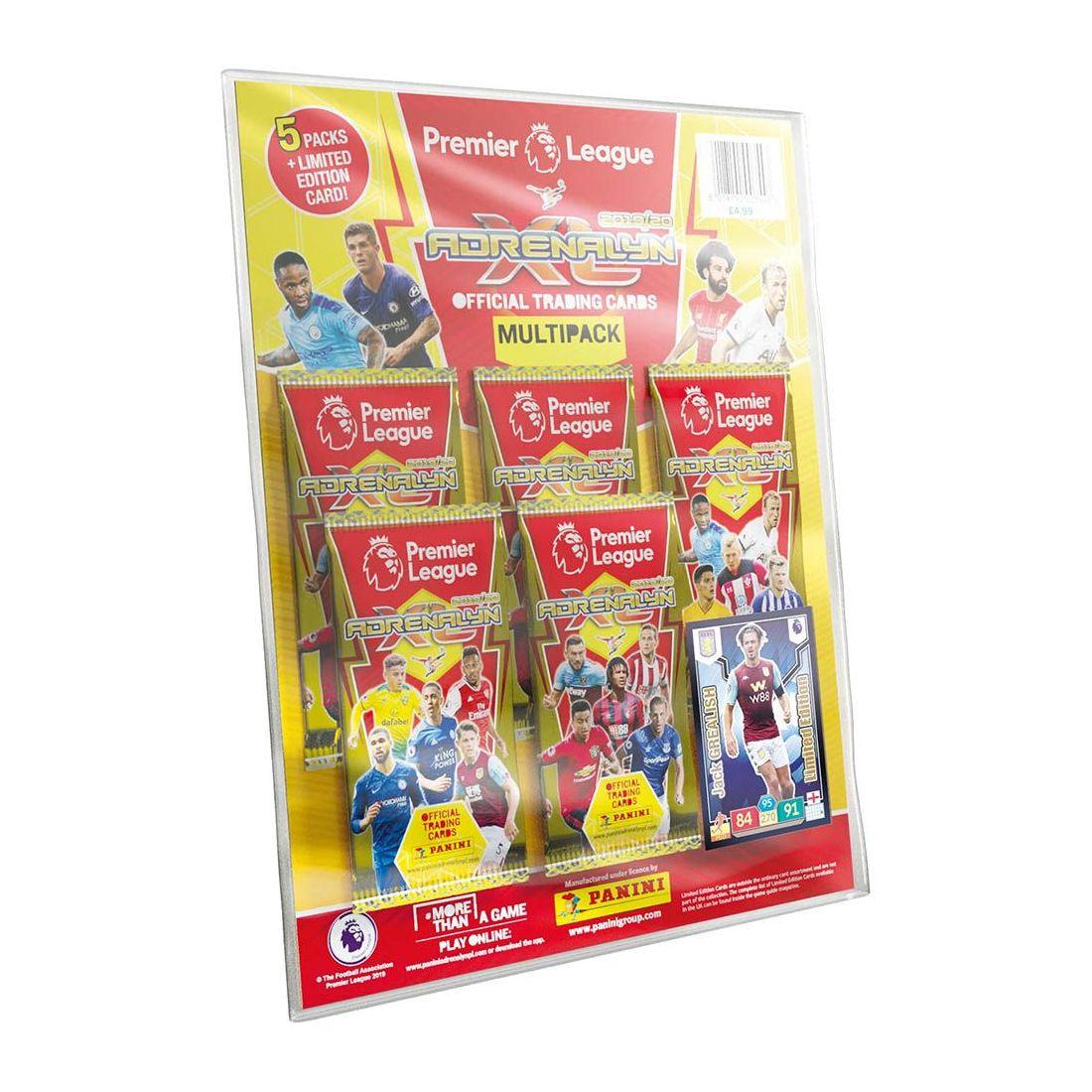 Panini Premier League Adrenalyn XL 19/20 Multipack [Includes 5 Sticker Packs]