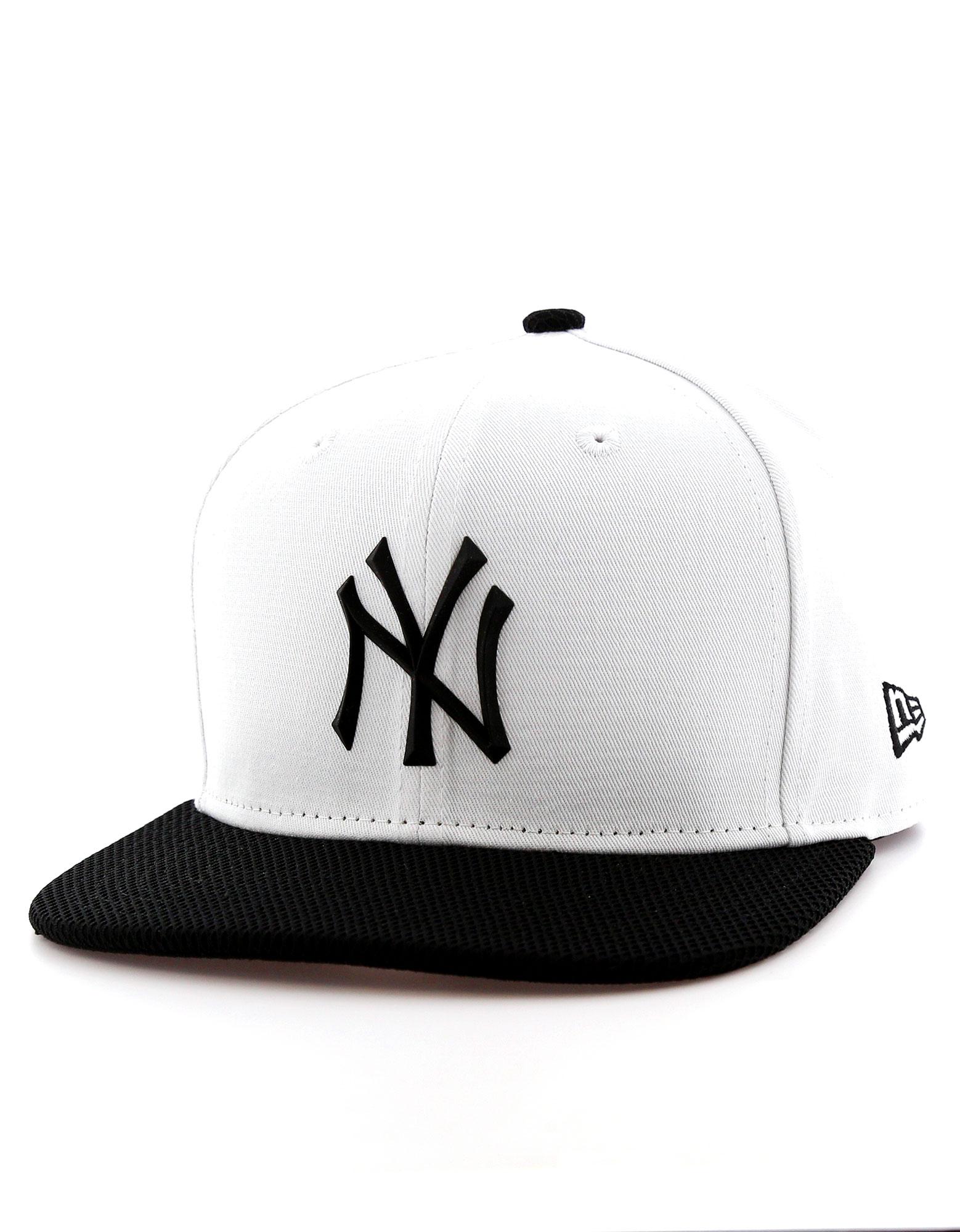 New Era Rubber Prime Ny Yankees Optic White/Black Cap S/M