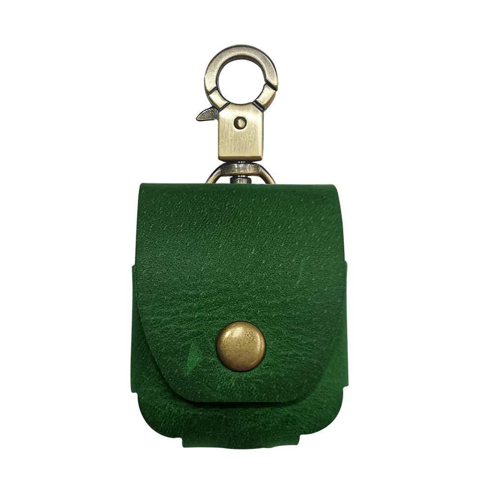 Porodo Leather Hang Case Green for AirPods [1st/2nd Gen]