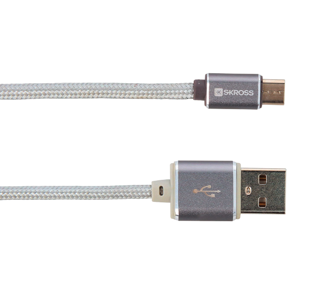 Skross Steel Line Charge N Sync Micro USB Cable
