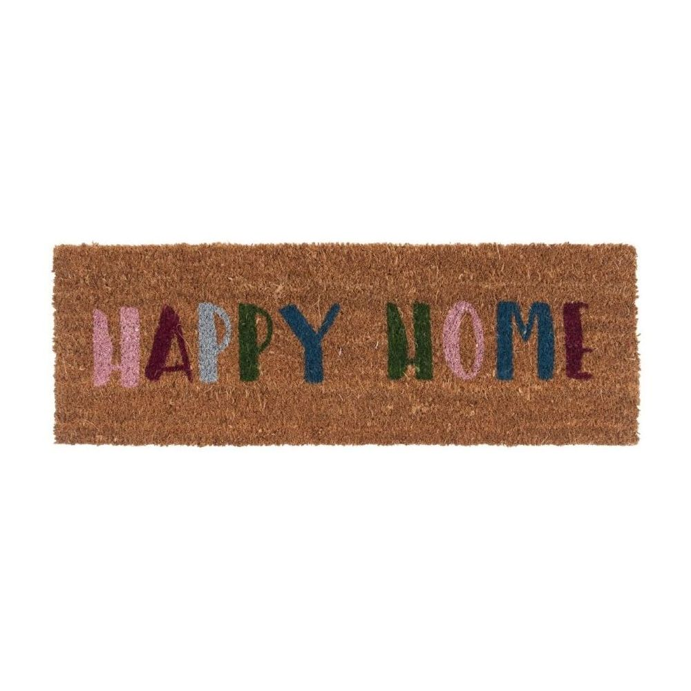 Present Time Door Mat Happy Home Multi Colour
