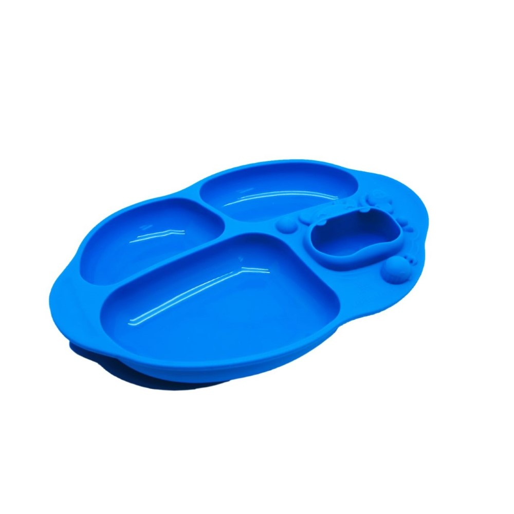 Marcus N Marcus Yummy Dips Suction Divided Plate Lucas Blue Baby Mat