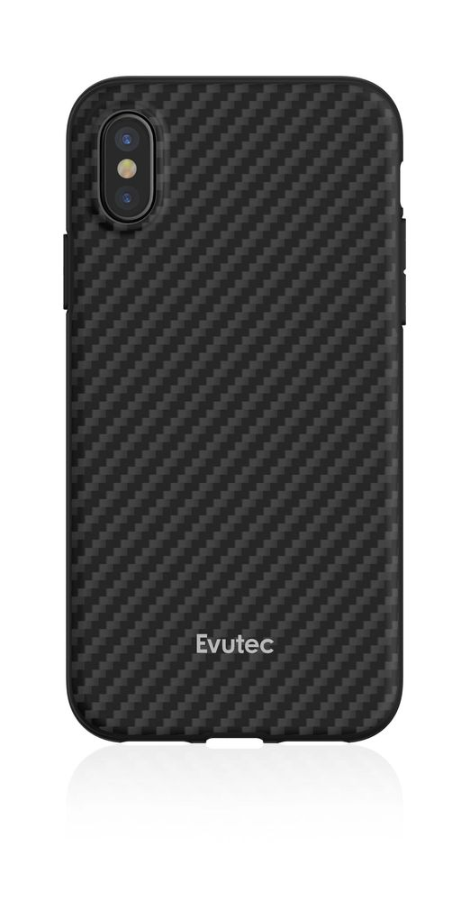 Evutec Aer Karbon with Afix Case Black for iPhone XS Max