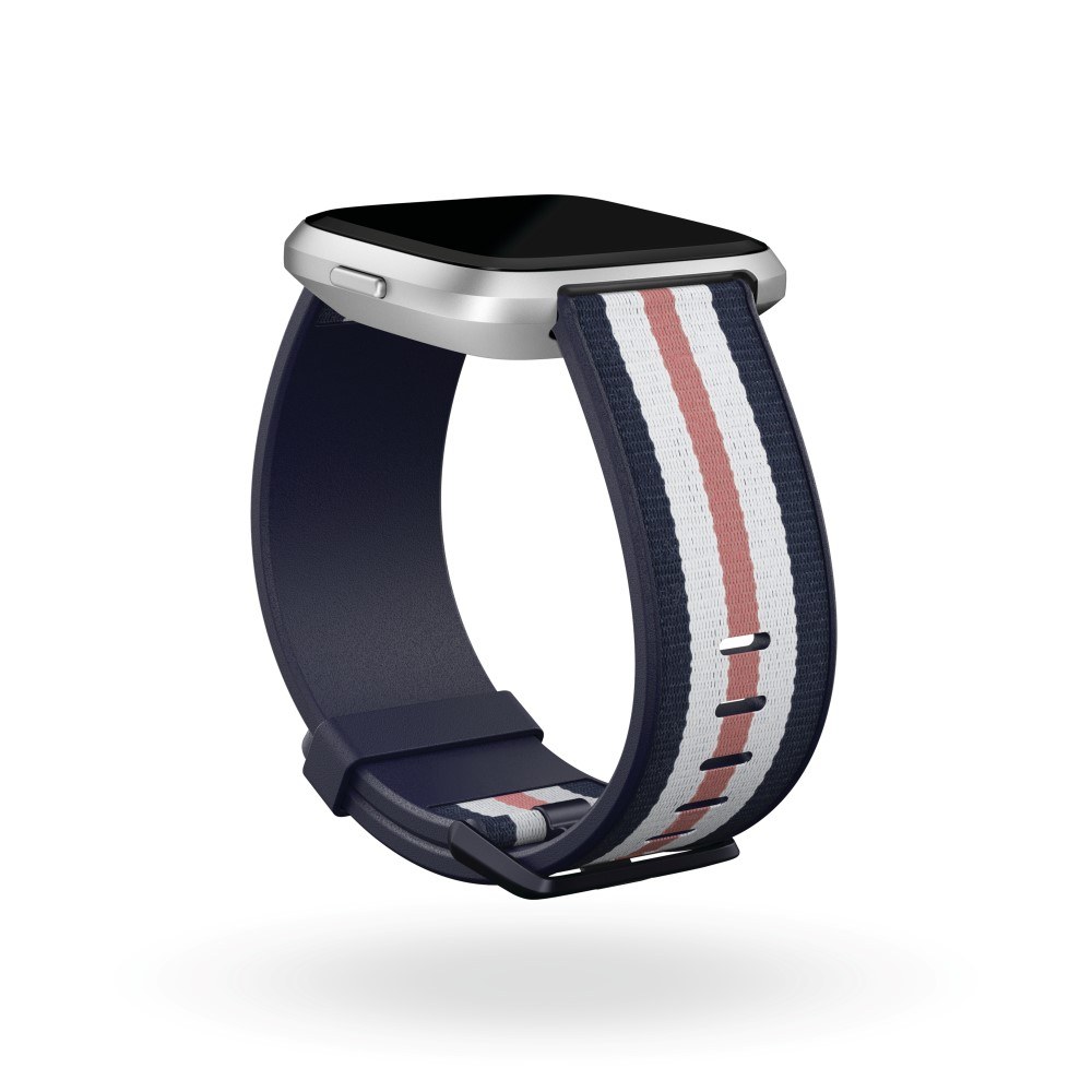 Fitbit Versa Woven Band Navy/Pink Large