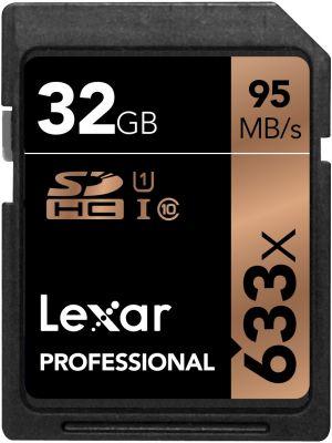 Lexar 32GB Professional UHS-I SDHC Memory Card [U1]