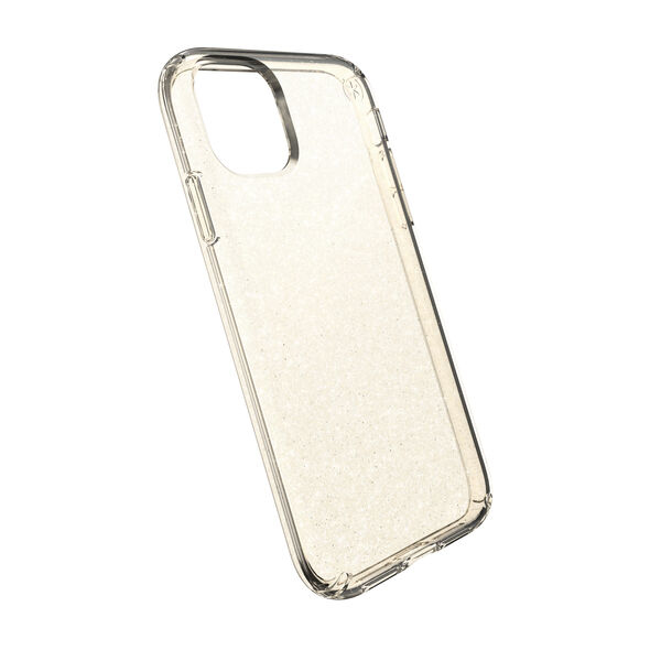 Speck Presidio Clear + Glitter Gold Case for iPhone 11