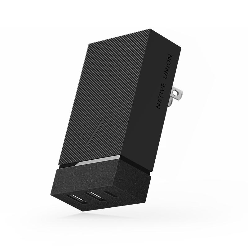 Native Union PD 45W 2X USB-A + USB-C Smart Hub Slate