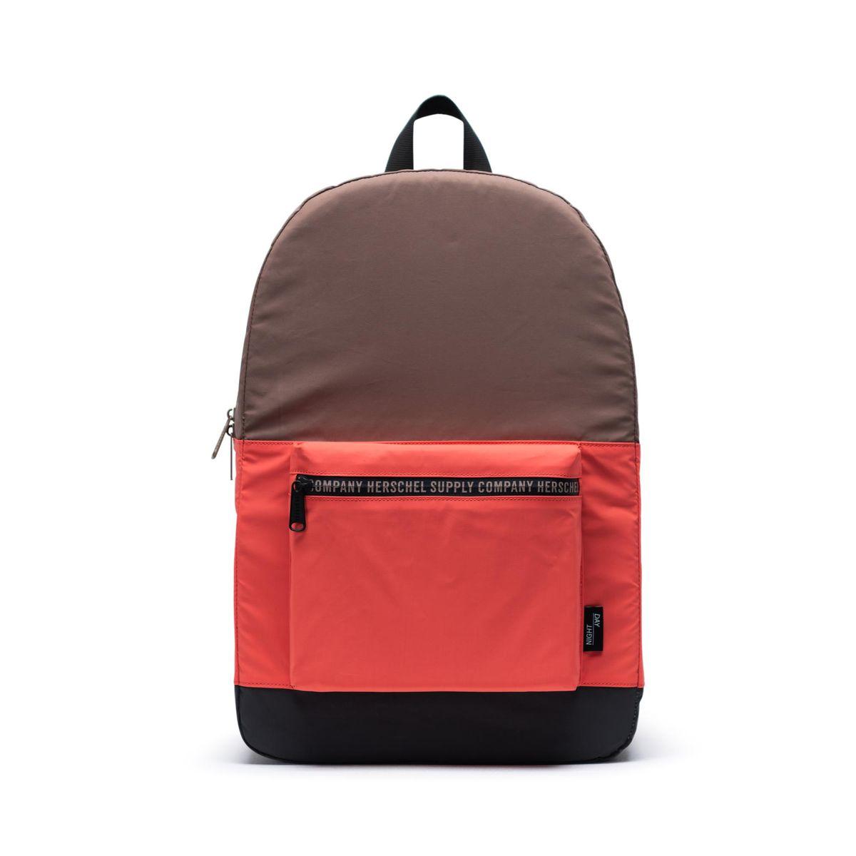 Herschel T/C Reflective Day/Night Daypack Backpack Reflective Black/Hot Coral/Pine Bark
