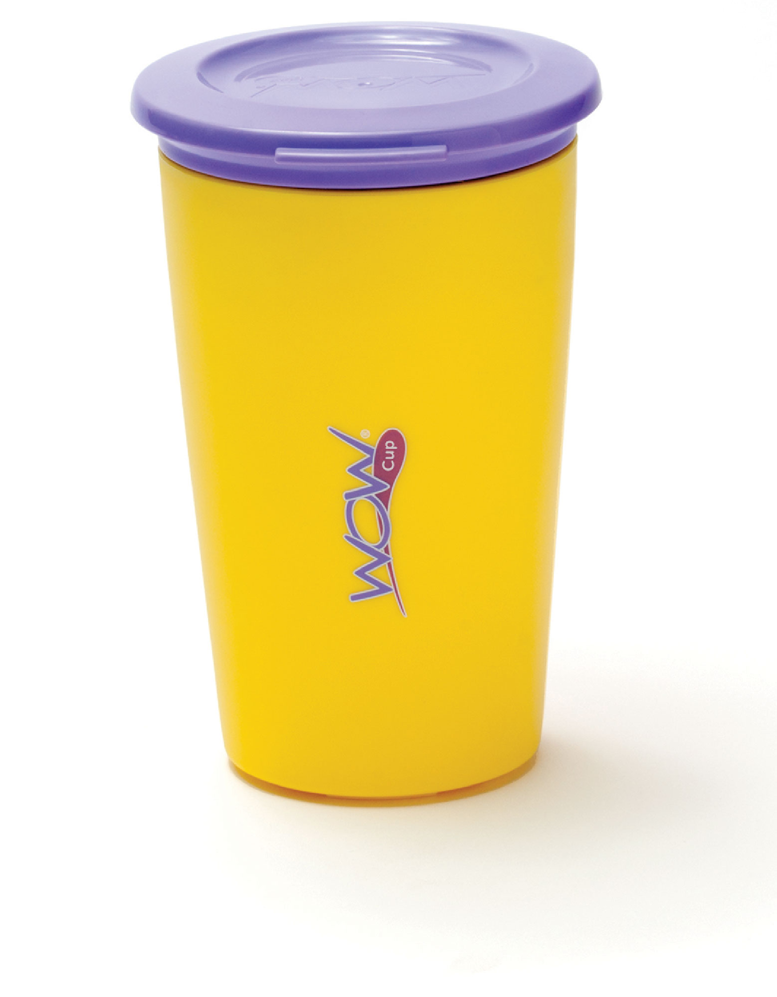 Wow Gear Wow Cup For Kids Yellow Cup / Purple Lid 266 ml