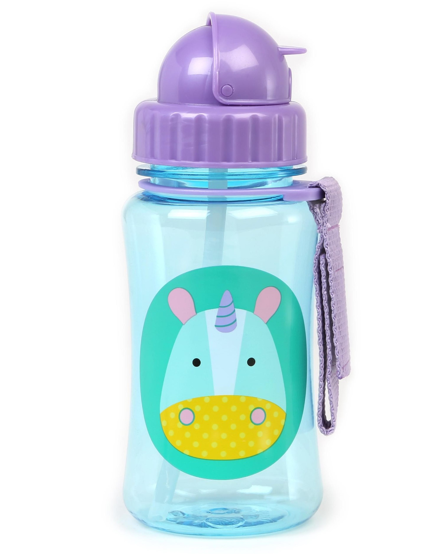 Skip Hop Zoo Straw Kids Water Bottle Unicorn 350ml