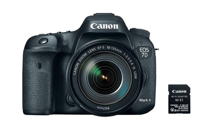 Canon EOS 7D Mark II DSLR Camera + EF-S 18-135mm IS USM + W-E1 + CF Card 16GB + Case