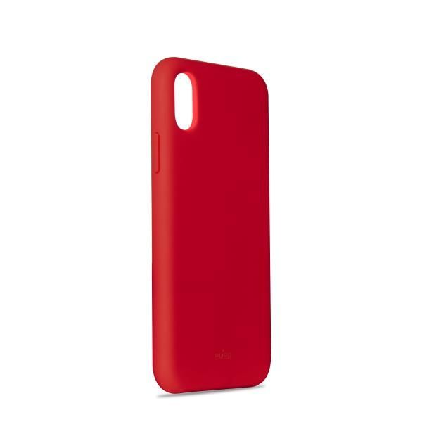Puro Icon Silicon Case Red for iPhone XS/X