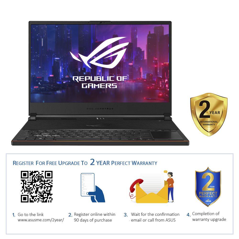 """ASUS ROG Zephyrus S GX531GXR-AZ059T i7-9750H/24GB/1TB SSD/GeForce RTX 2080 Max-Q 8GB/15"""" FHD/Windows 10/Black"""
