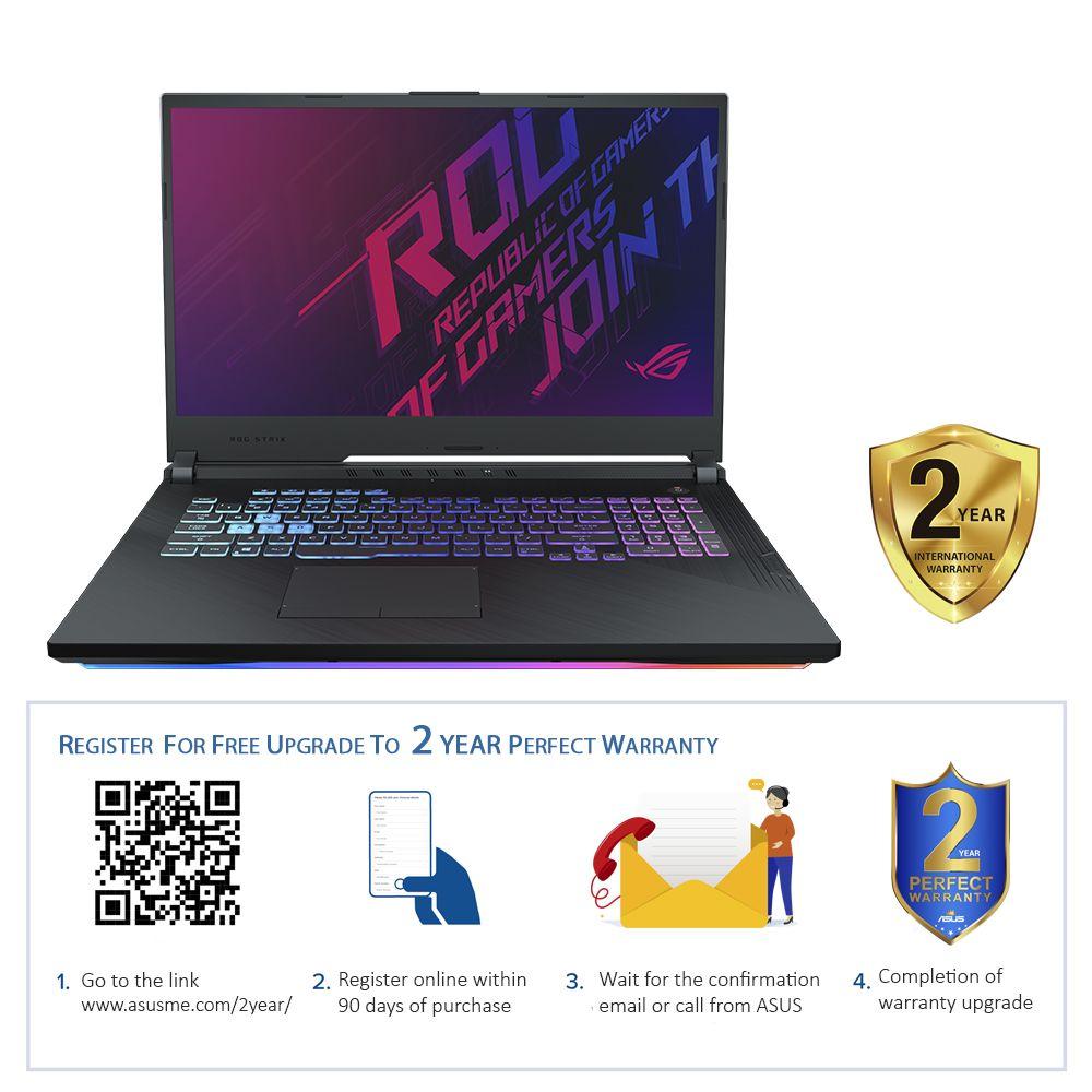 """ASUS ROG Strix G G731GV-EV132T i7-9750H/16GB/1TB SSD/NVIDIA GeForce RTX 2060 6GB/17.3"""" FHD/144Hz/Windows 10/Black"""