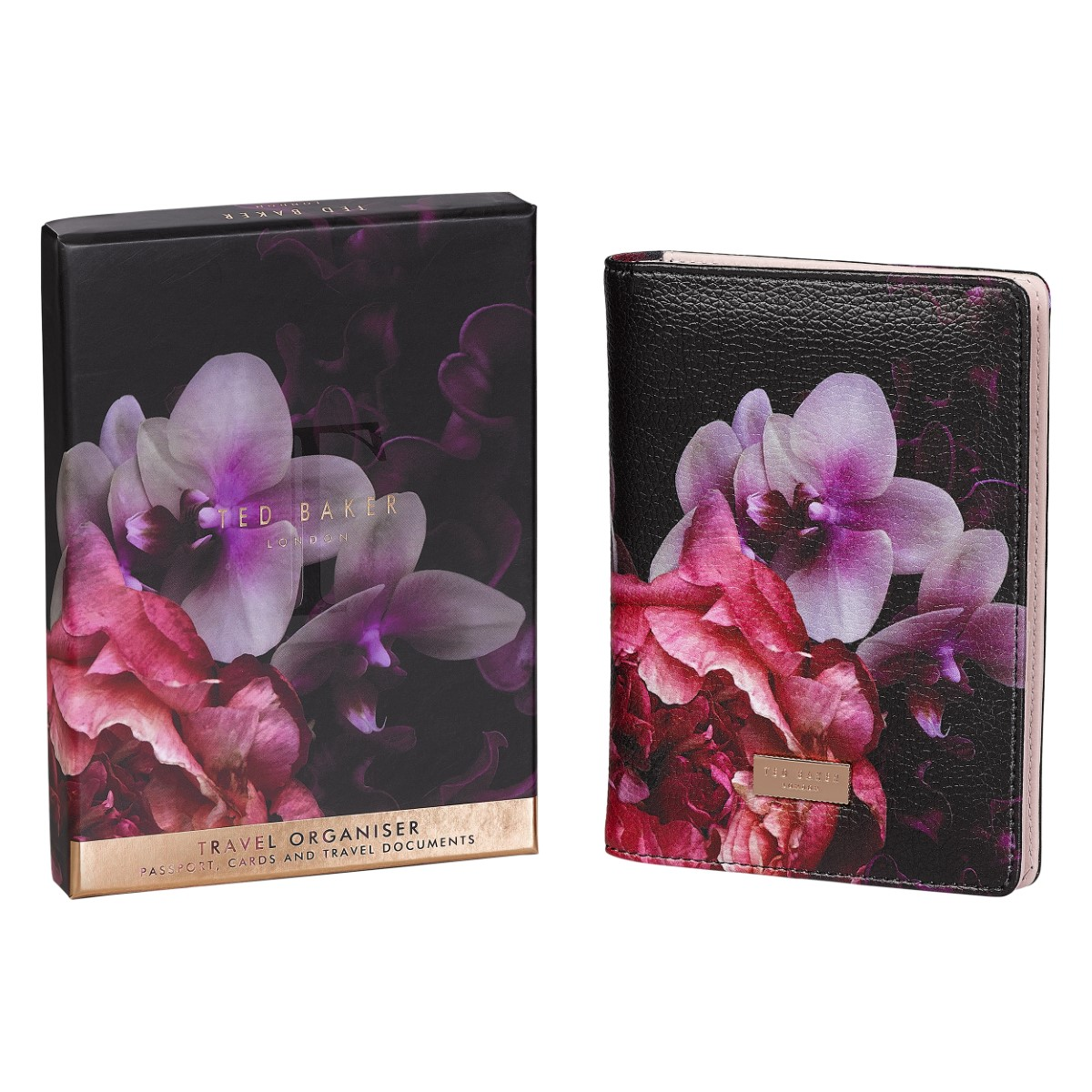 Ted Baker Travel Document Holder Black Splendour