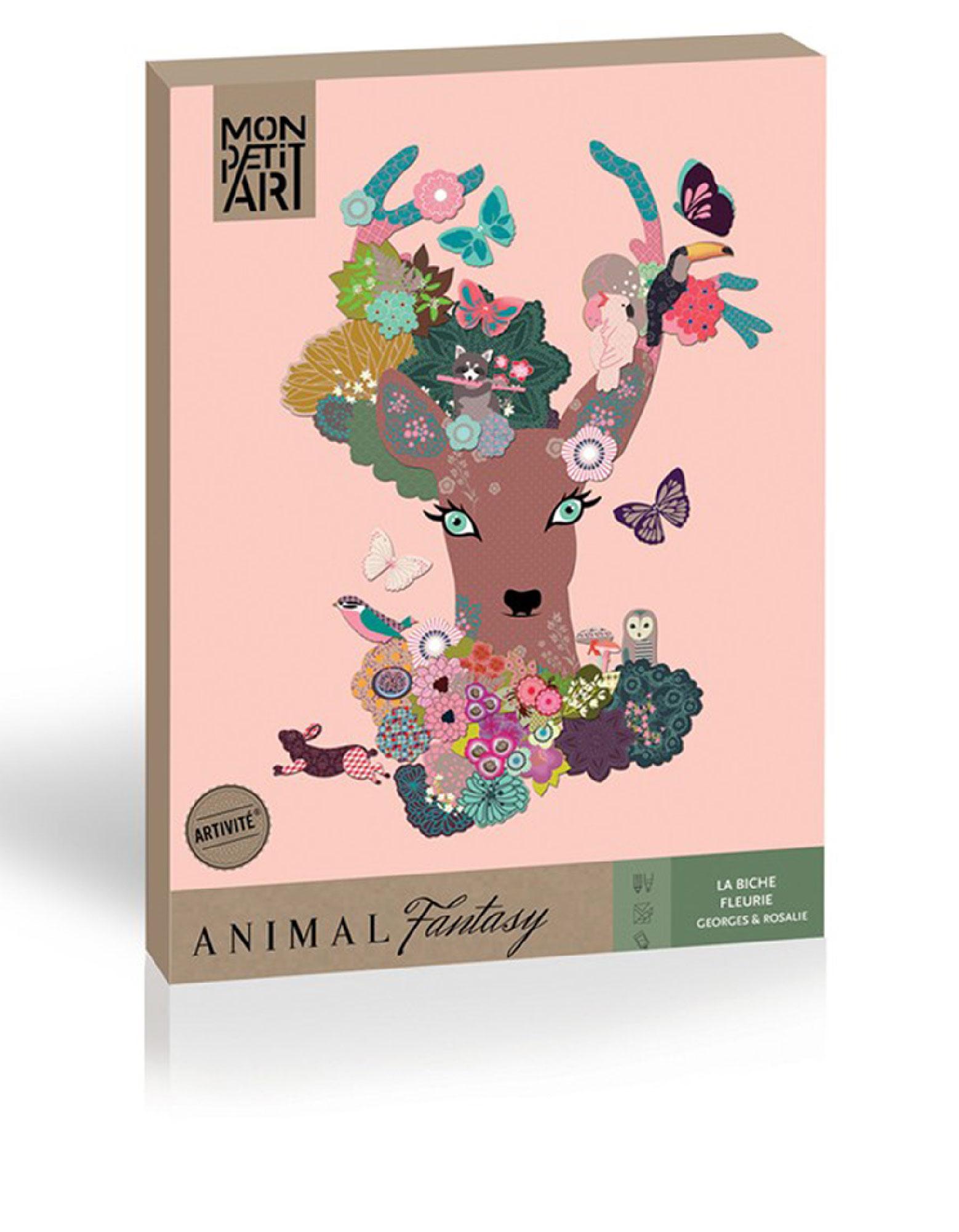 Mon Petit Art Floral Deer: Animal Fantasy Creative Kit