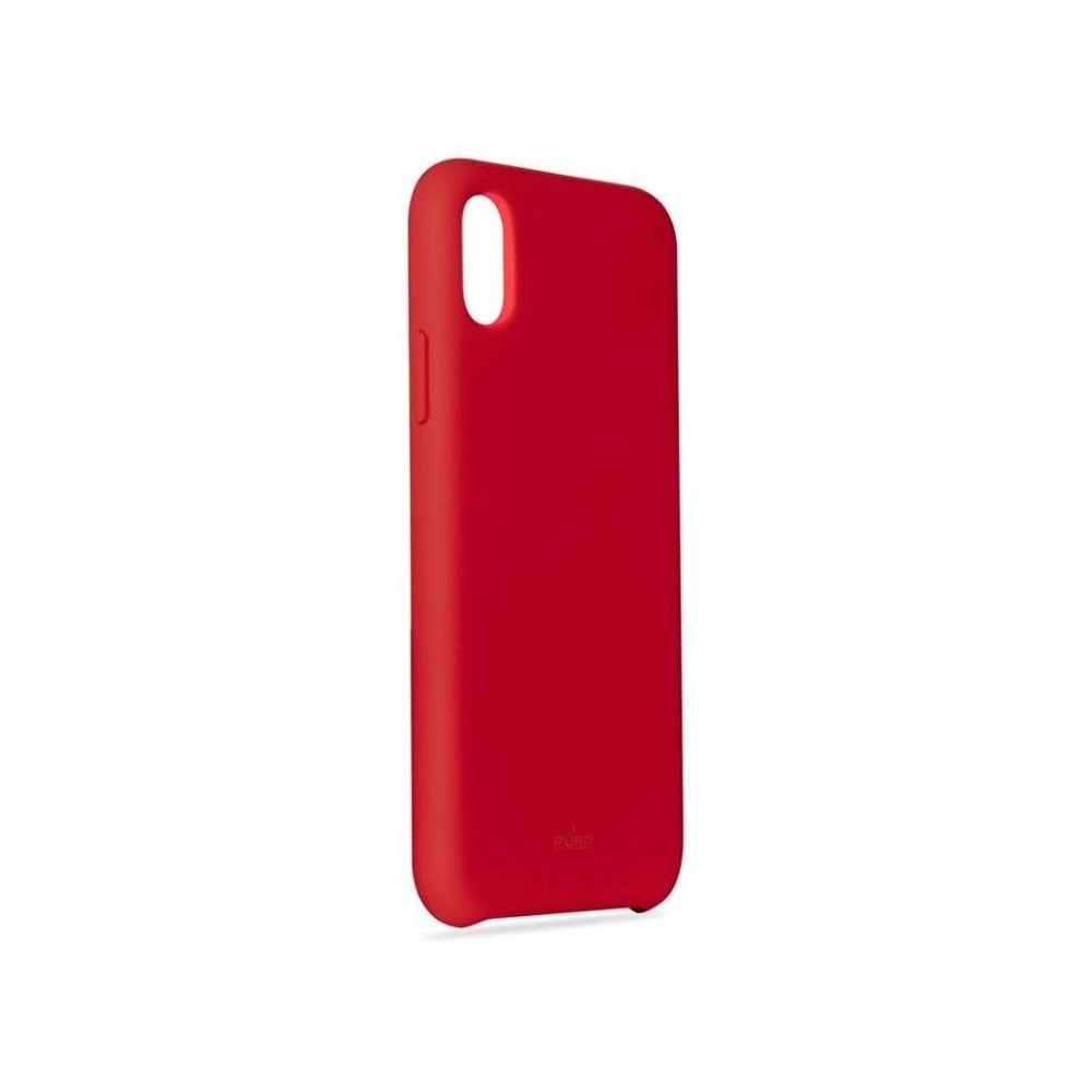 Puro Icon Silicon Case Red for iPhone XS Max