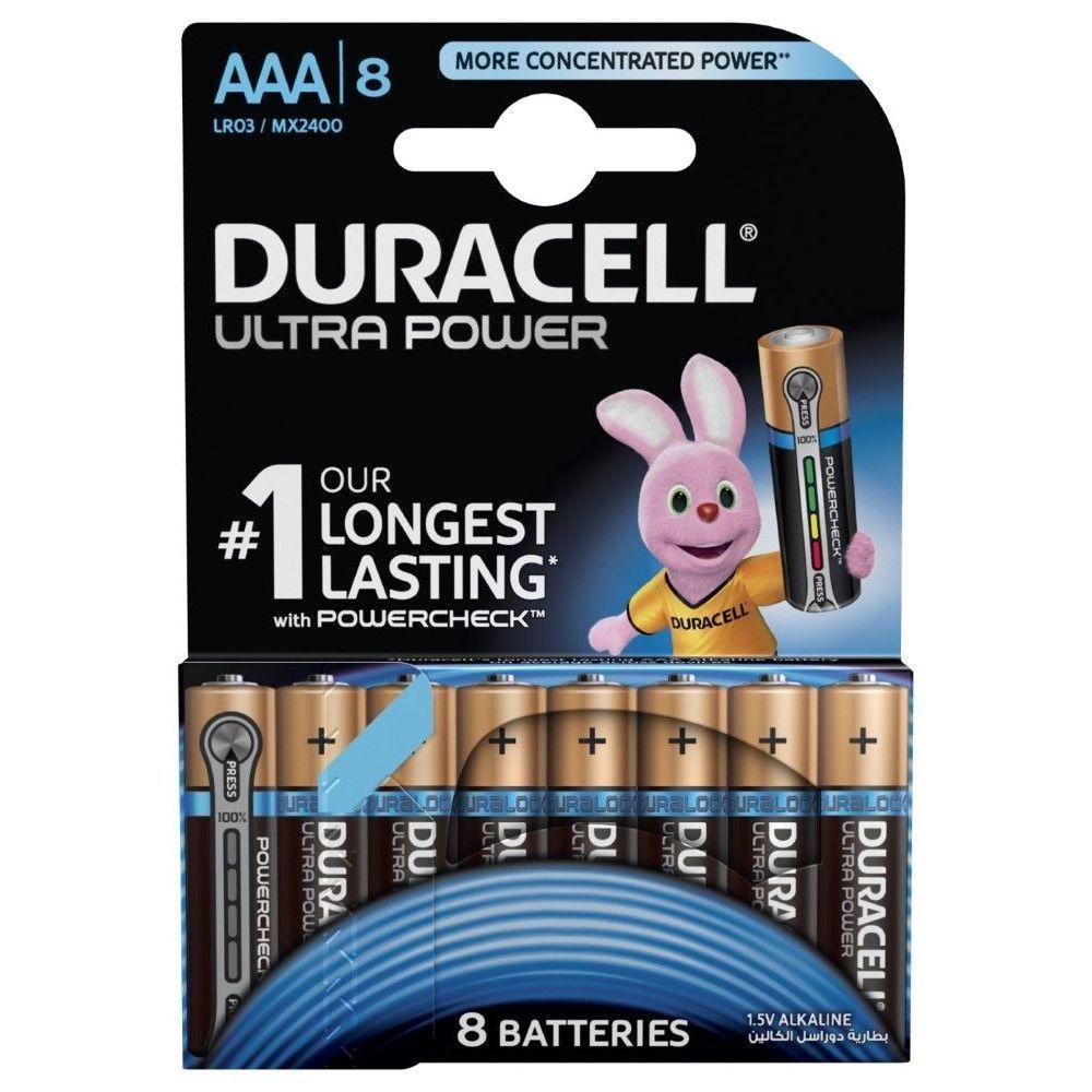 Duracell Ultra Power Type AAA Alkaline Batteries [8 Pack]