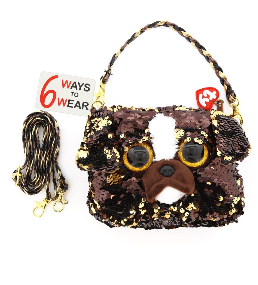 Ty Fashion Sequin Dog Brutus Shoulder Bag