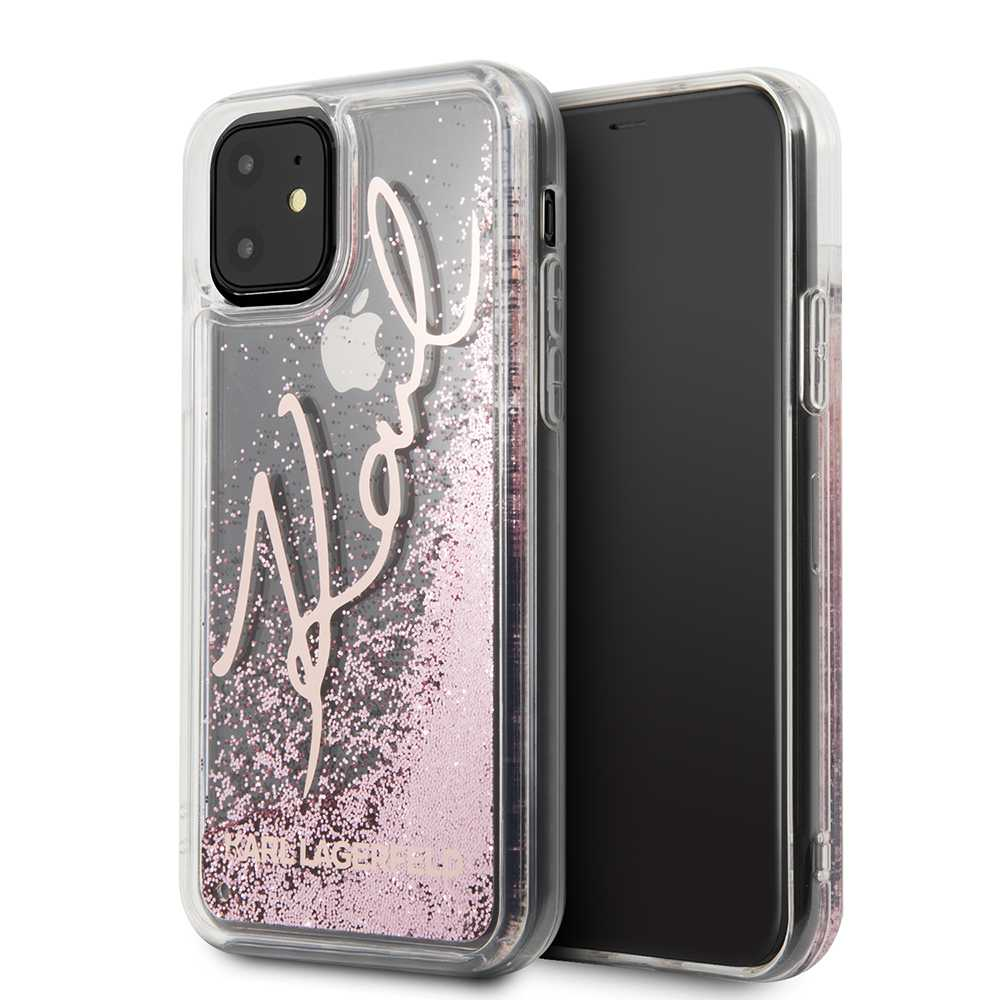 Karl Lagerfeld Iconik TPU Glitter Hard Case Silver for iPhone 11 Pro Max