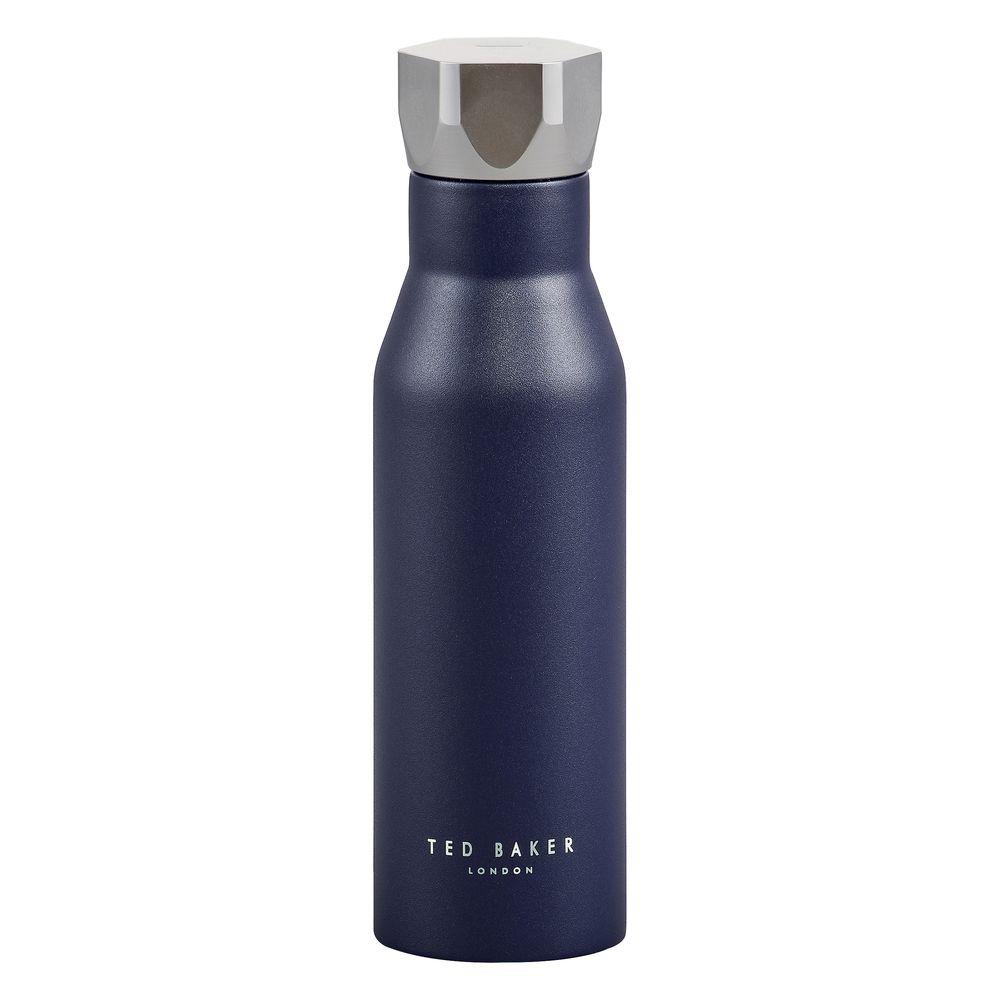 Ted Baker Men's Stainless Steel Water Bottle Navy